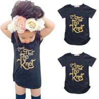 """Rock That Top Knot"" Short Sleeve Long T-Shirt"