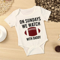 """On Sundays...."" Short Sleeve Conversational Onesie"