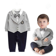 Little Gentleman Long Sleeve Bow Tie Suit