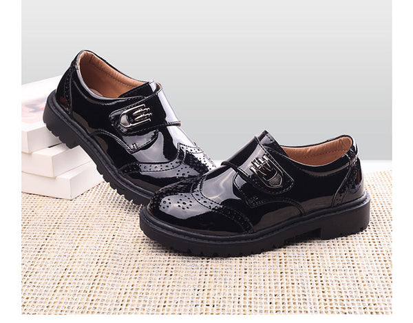 Genuine Leather Wing Toe Dress Shoes