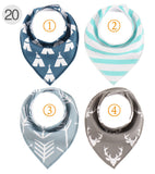 4- Piece Baby Boy Dribble Bandana