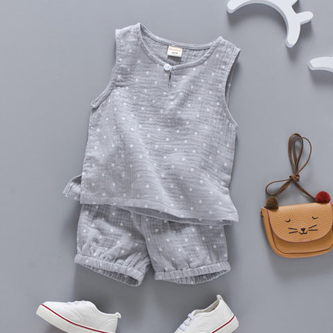 Cotton Linen Sleeveless Top + Coordinating Pants