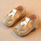 Princess Gold Baby Rhinestone First Walkers