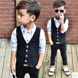 GQ Stylish Pinstripe Suit Vest + Pants