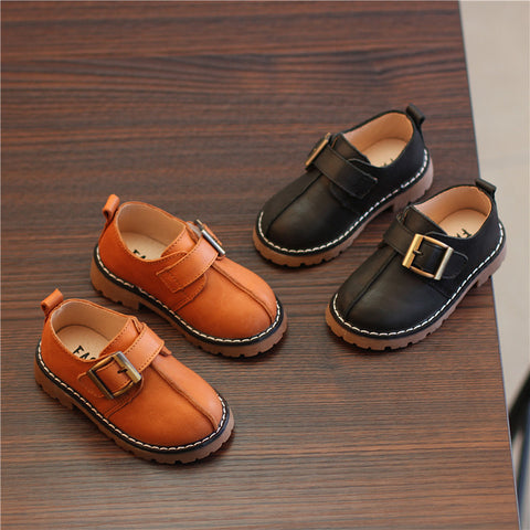 British Retro Anti-Skid Breathable Leather Casual Shoes