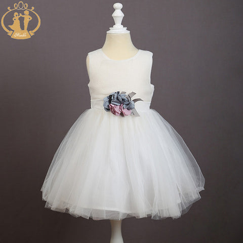 Formal Sleeveless Flower Bouquet Dress