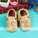 2018 NEW Genuine Leather Soft Baby Shoes First Walkers Toddler gold Baby Moccasins Anti-slip Infant fringe Shoes