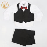 (On Back order) Black (3) piece Formal Pinstripe Suit