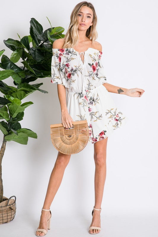 Floral Fantasy Romper - The Dainty Cactus Boutique