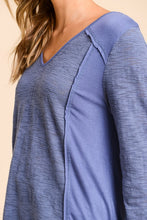 Comfy Mixed Jersey Top - The Dainty Cactus Boutique