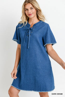 Denim Dress - The Dainty Cactus Boutique