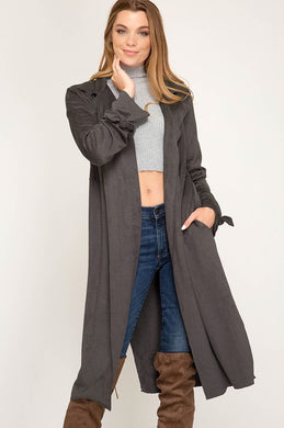 Faux Suede Duster - The Dainty Cactus Boutique