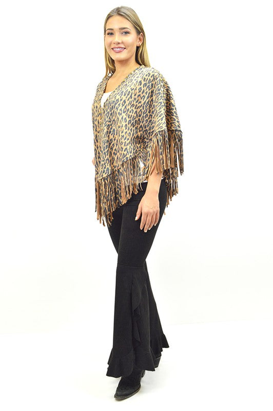 Leopard Poncho - The Dainty Cactus Boutique