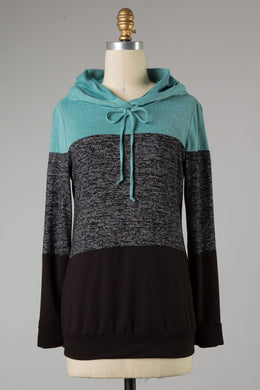 Color Block Hoodie - The Dainty Cactus Boutique