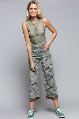 Hidden  Surprise Camo Pants - The Dainty Cactus Boutique