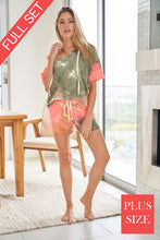 Plus Tie Dye Lounge Wear Set