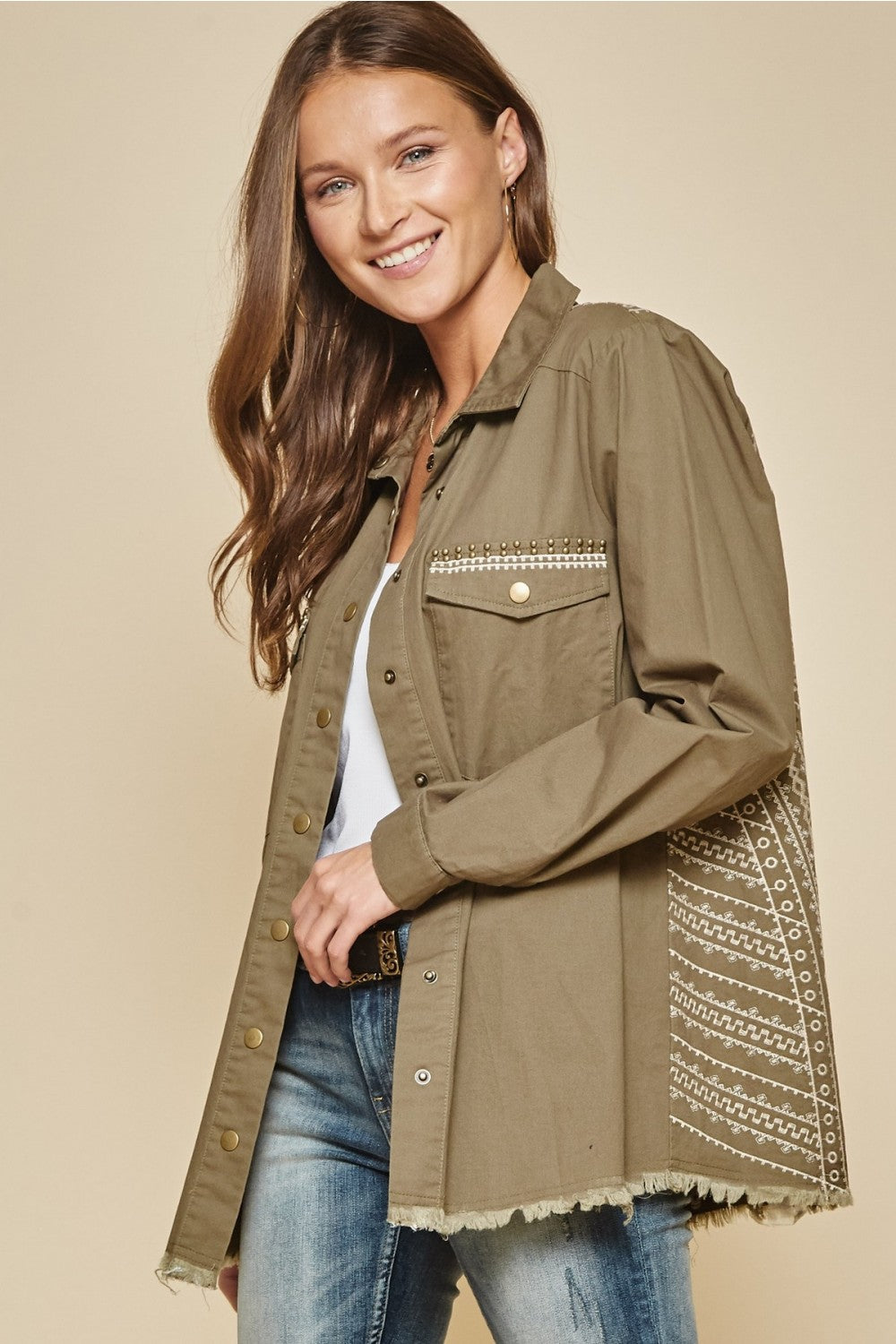 Military Jacket - The Dainty Cactus Boutique