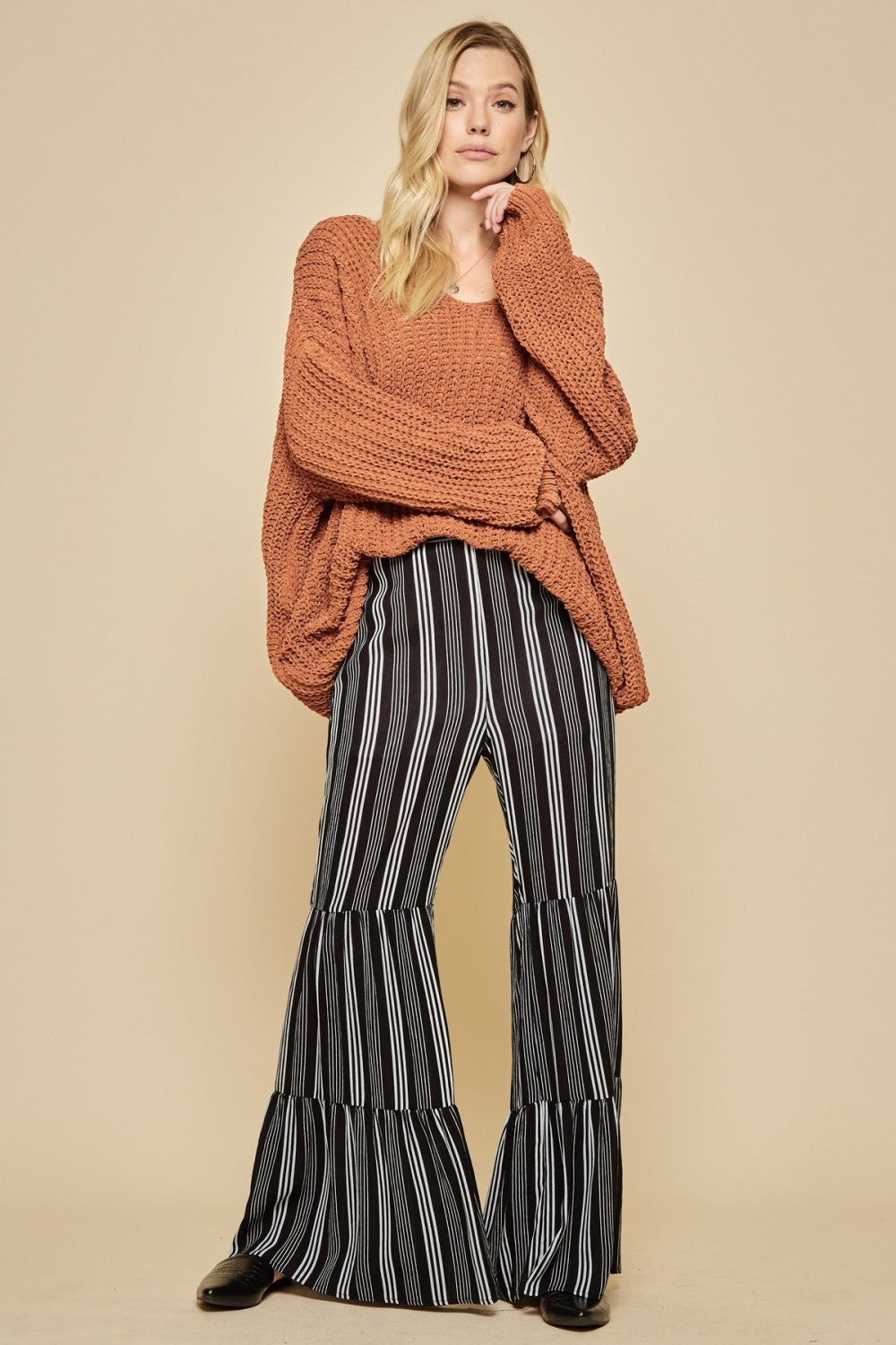 Striped Bell Pants - The Dainty Cactus Boutique