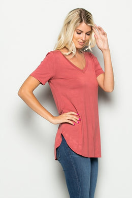 Classic V Neck Tee - The Dainty Cactus Boutique
