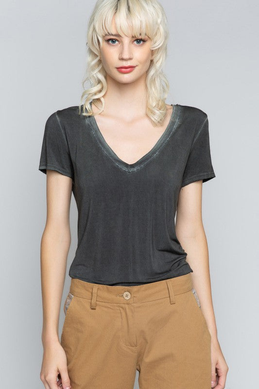 V-Neck Tee - The Dainty Cactus Boutique