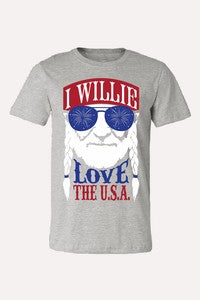 I Willie Love the USA Tee - The Dainty Cactus Boutique