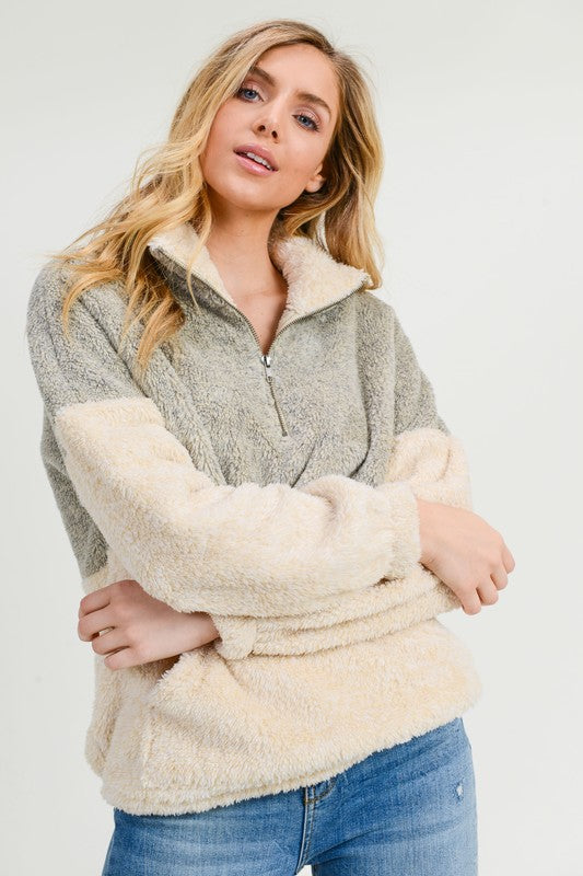 Two Tone Sherpa - The Dainty Cactus Boutique