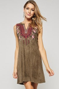 Embroidered Dress - The Dainty Cactus Boutique