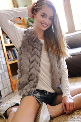 Faux Fur Vest - The Dainty Cactus Boutique