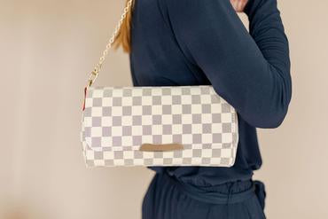The Clarissa London Check Purse