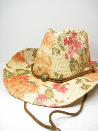 Floral Cowboy Hat - The Dainty Cactus Boutique