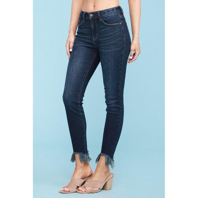 Judy Blue Dark Wash Shark Bite Jeans