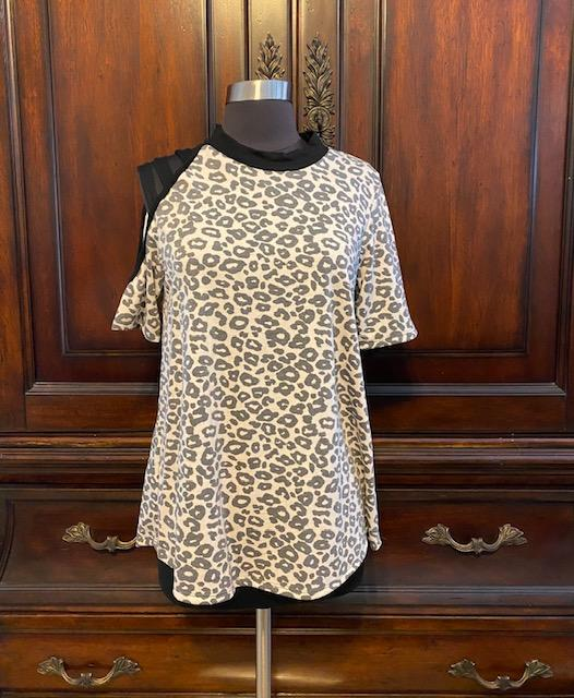 The Three Strap Leopard Top