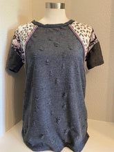 Distressed Jacquard Top