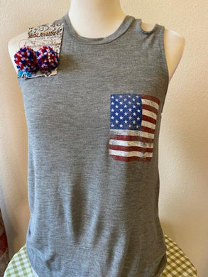 Cut Out Patriotic Tank
