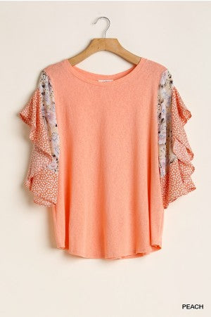 Peaches in Flutter Top