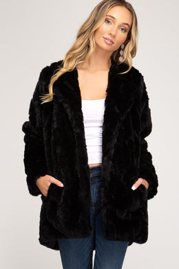 Black as Night Fur Jacket