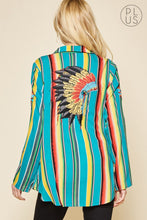 Serape Indian Headdress Top - The Dainty Cactus Boutique