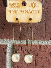 Pink Panache Crystal Hoop Earrings