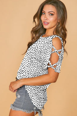 Strapping Cool Print Top