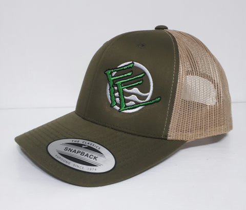 Flexfit Snapback Trucker - Hunter Green/Khaki - Fisherman's Edge