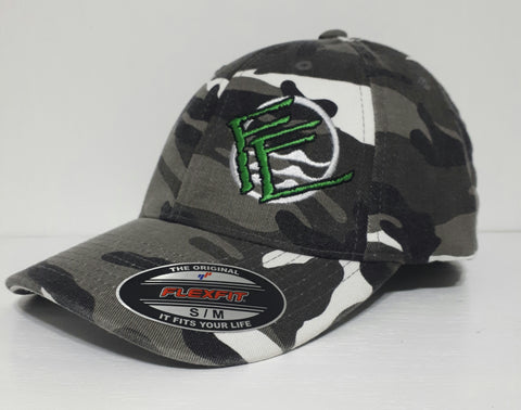 Flexfit Fullback Camo - White/Grey/Black - Fisherman's Edge
