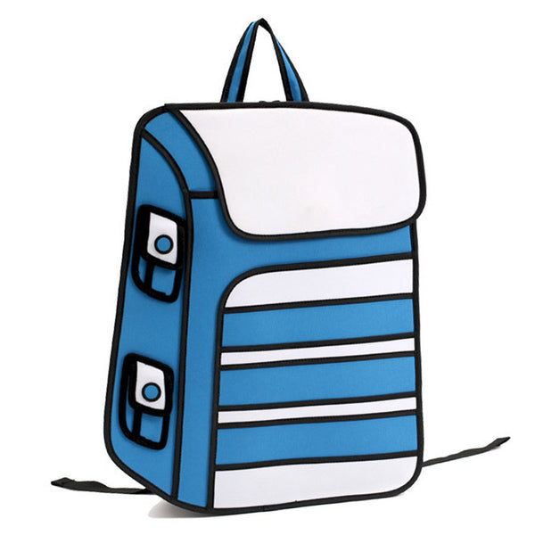 Smurf 2D Backpack - HautePacks - Travel Fashion Backpacks