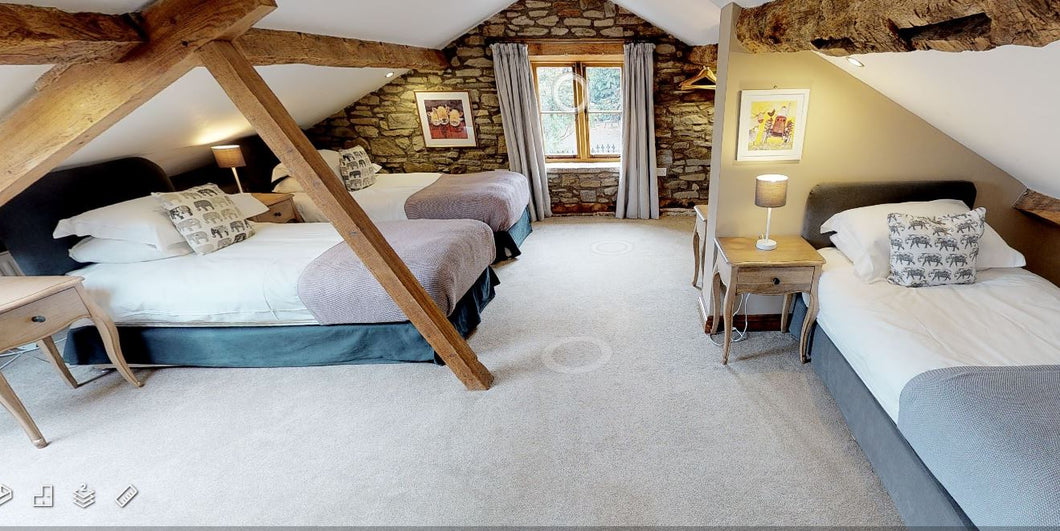Bedroom FOUR - THE OLD BYRE - SHARED Occupancy - The Book Matchmaker