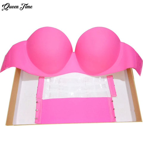 d4b7124a582f4 Sexy Self Adhesive Magic Push Up Bra Strapless Invisible Bras Side Closure  Bras Cup B bra