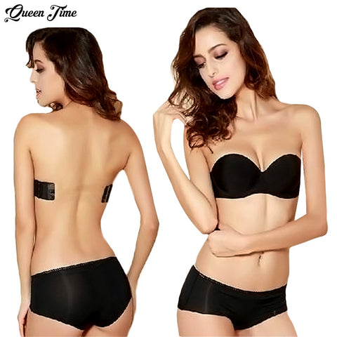 3e96855abc 2016 Sexy Formal Dress One Piece Seamless Bra Cup Invisible A Blade  Strapless Ladies Push Up