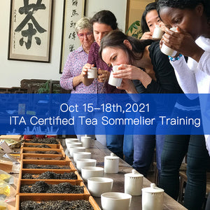 Oct 2021 ITA Certified Tea Sommelier Certification Training in Puer Yunnan, China