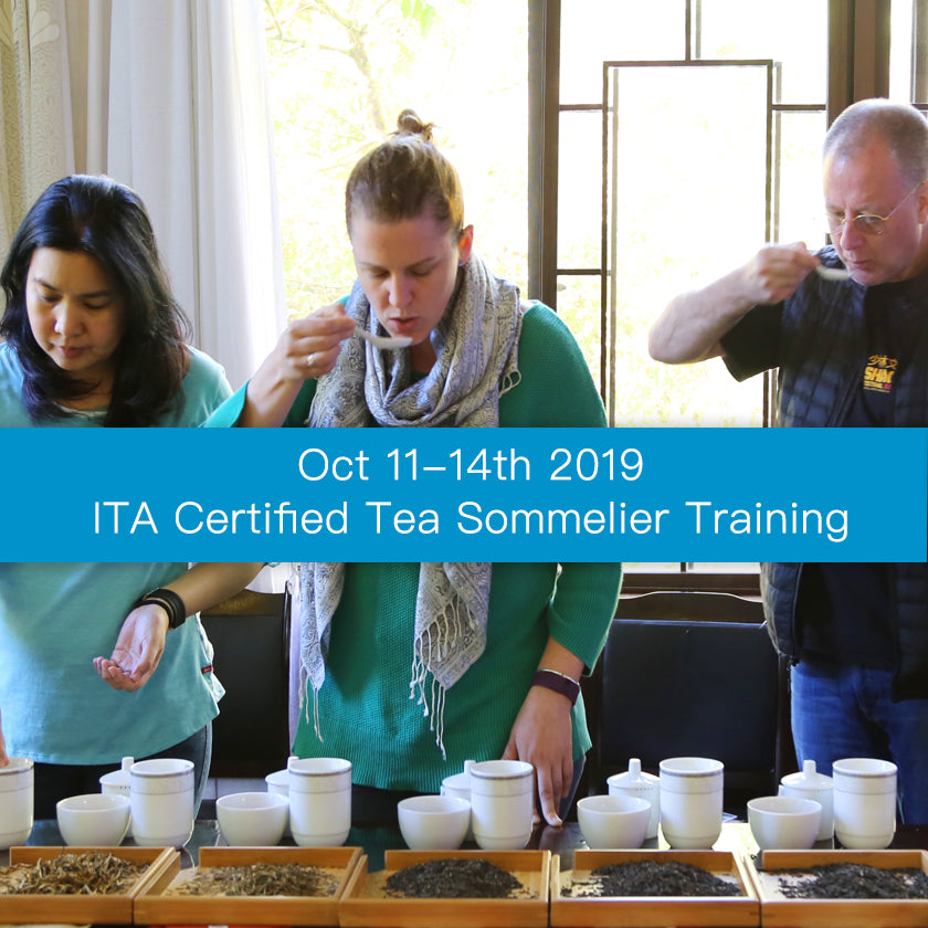 Oct 2018 ITA Certified Tea Sommelier Certification Training in Puer Yunnan, China