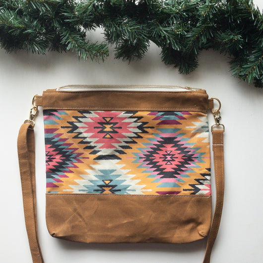 Spring Cleaning Waxed Canvas Crossbody in Kilim