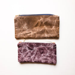 Hand Waxed Catch-All Pouch (Small and Medium) - Burst into Bloom