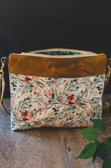 Waxed Canvas Crossbody in Folk Floral - Burst into Bloom